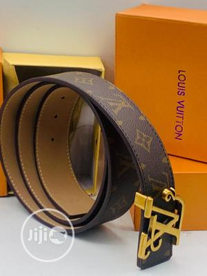 Louis Vuitton Leather Belt Original | Clothing Accessories for sale in Lagos State, Surulere