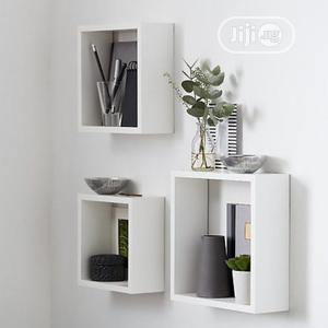 Mdf Decor Floating Wall Cube Shelf - Black/White | Home Accessories for sale in Lagos State, Surulere