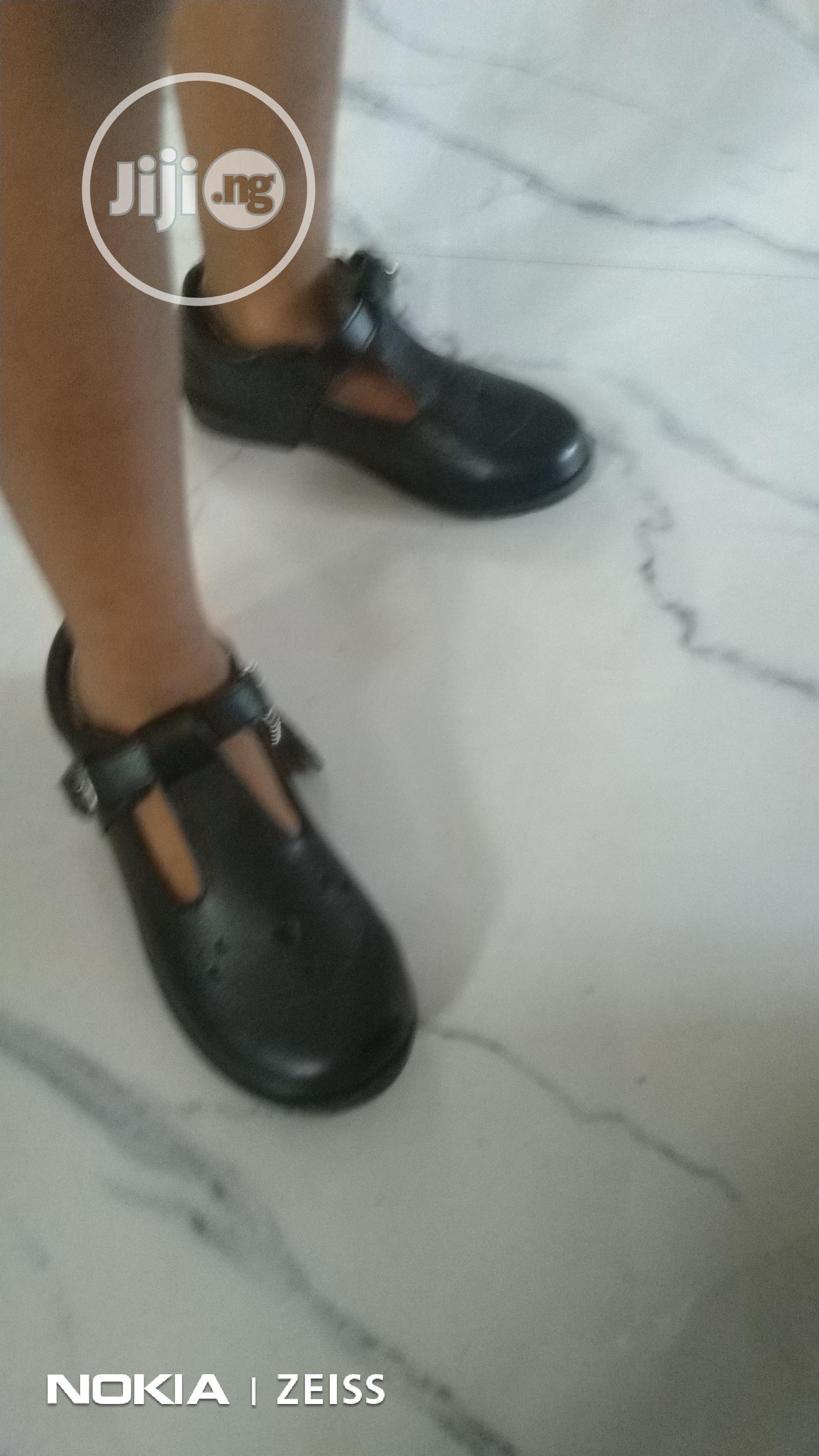 Solid Children's Black School Shoe