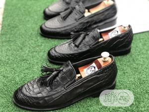 Black Skin Tassel Loafers , Big Size   Shoes for sale in Lagos State, Mushin