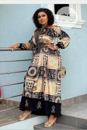 Vintage Print Turkey Long Dress | Clothing for sale in Lagos State, Ikeja