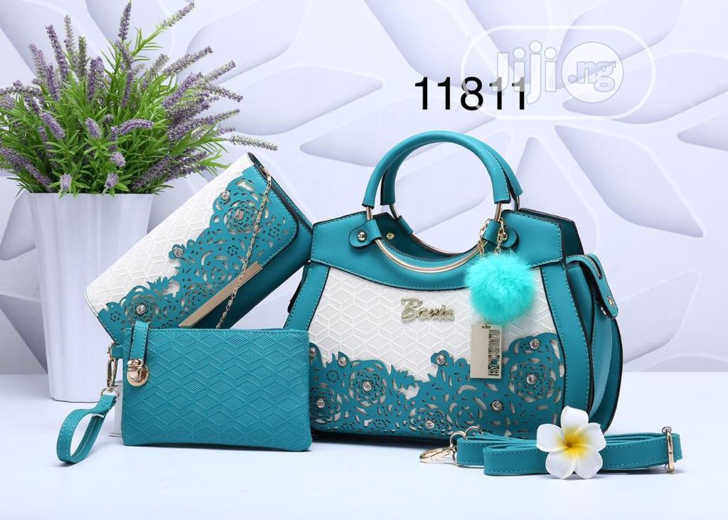 Female Classic Turkey Leather Handbag With Purse
