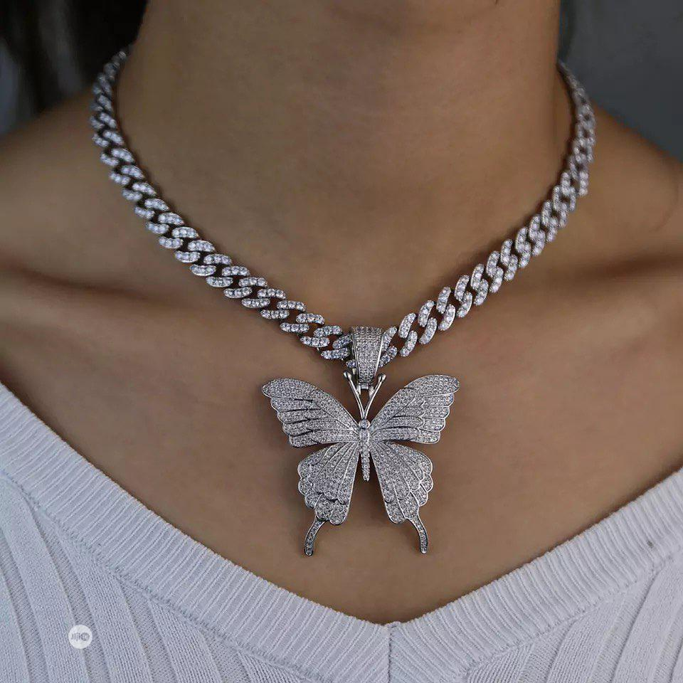 Ladies Butterfly Necklace