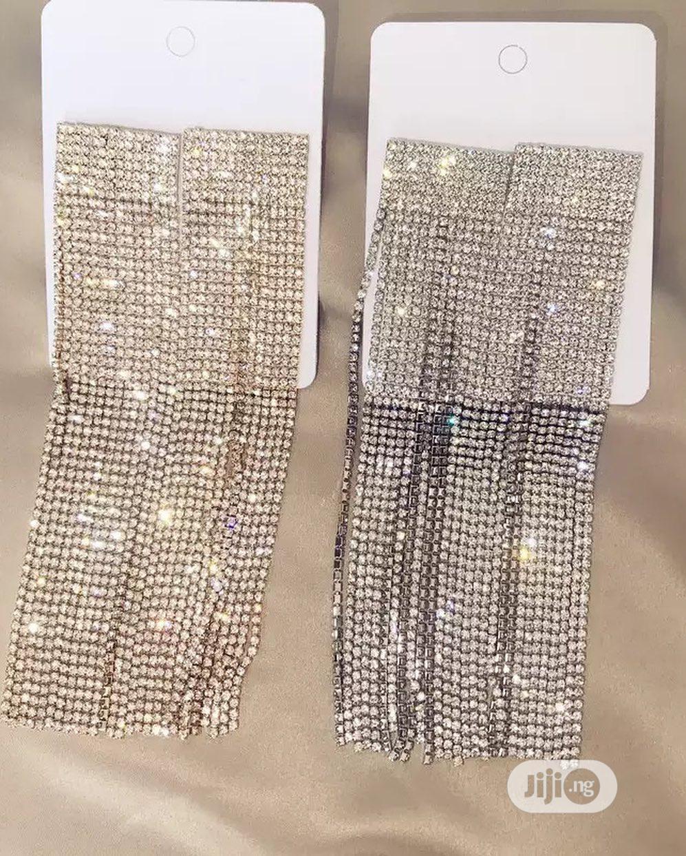 Sparkling Long Ladies Earrings | Jewelry for sale in Ikeja, Lagos State, Nigeria