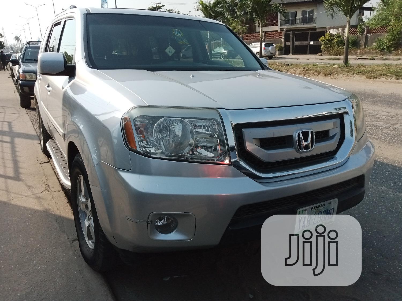 Honda Pilot 2008 EX-L 4x4 (3.5L 6cyl 5A) Silver | Cars for sale in Amuwo-Odofin, Lagos State, Nigeria