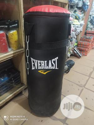 Everlast Leather Boxing Bag | Sports Equipment for sale in Lagos State, Lekki