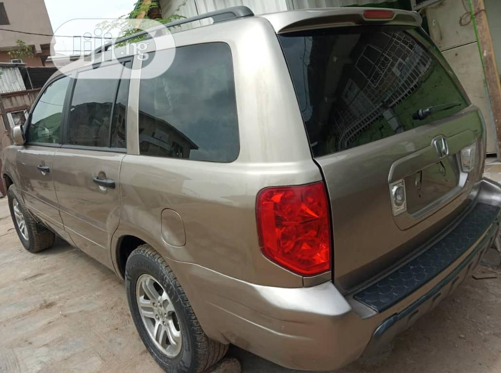 Honda Pilot 2003 EX 4x4 (3.5L 6cyl 5A) Gold | Cars for sale in Yaba, Lagos State, Nigeria