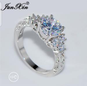 Junxin 5.80/Ct Lab Diamond White Sapphire Wedding Ring + RB   Wedding Wear & Accessories for sale in Kwara State, Ilorin West