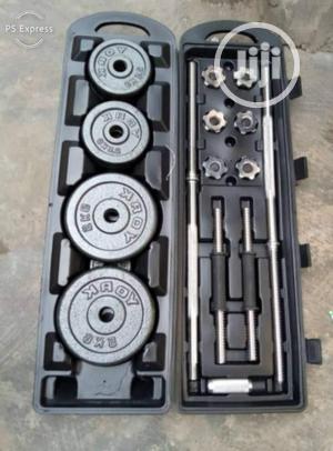 Adjustable 50kg Dumbells and Barbells Set (2 in 1)   Sports Equipment for sale in Lagos State, Surulere