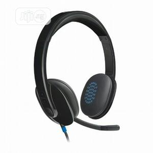 Logitech H540 USB Headset With Noise-Cancelling Mic | Headphones for sale in Lagos State, Ikeja