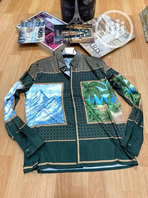 High Quality Casablanca Printed Long Sleeve Silk Shirt | Clothing for sale in Lagos State, Magodo