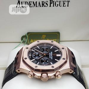 High Quality Audemars Piguet Number Dial Leather Watch | Watches for sale in Lagos State, Magodo