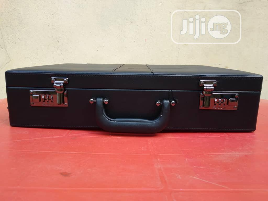 Genuine Black Leather Imported Briefcase For Professsionals | Bags for sale in Kosofe, Lagos State, Nigeria