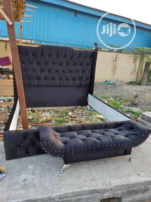 6by6 Upholstery Bed Frame With Footrest | Furniture for sale in Lagos State, Ikeja