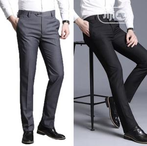 A Set of Plain Quality Suite Trousers for Men-Ash+Black | Clothing for sale in Lagos State, Ikeja