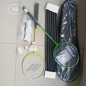 Rucarnor Badminton Racket With Shuttle Cock, Net and Stand   Sports Equipment for sale in Lagos State, Surulere