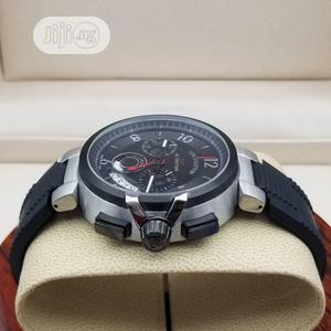 Louis Vuitton (LV) Chronograph Silver/Black Rubber Watch   Watches for sale in Lagos State, Lagos Island (Eko)