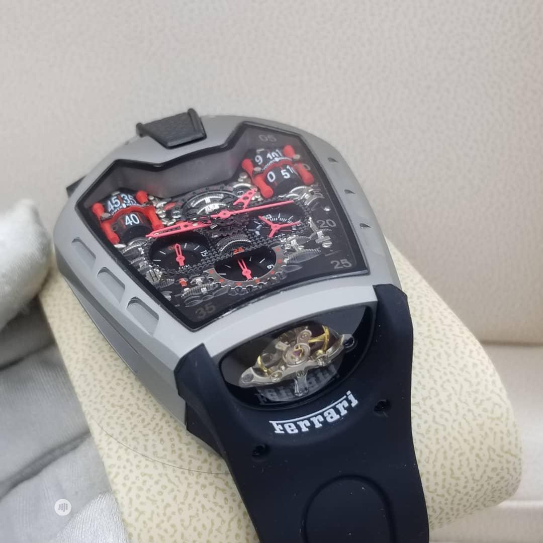 Hublot (Ferrari) Automatic Arch Black Rubber Strap Watch