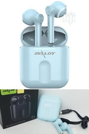 Zealot T2 Bluetooth Wireless Earbuds Blue. Zealot Earpods.   Headphones for sale in Lagos State, Ikeja