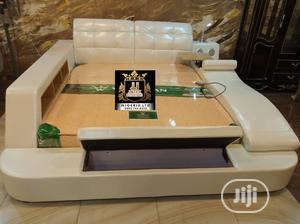 Unique Leather Bed   Furniture for sale in Lagos State, Amuwo-Odofin