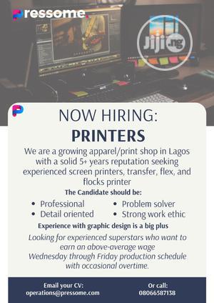 Graphics Designer/ Printer wanted   Computing & IT Jobs for sale in Lagos State, Lekki