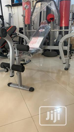 Bench Press With Barbell and 50kg Weight Plates | Sports Equipment for sale in Abuja (FCT) State, Garki 1