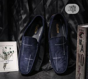Men Trendy Slip-On Suede Loafers - Blue   Shoes for sale in Lagos State, Amuwo-Odofin