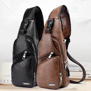 Leather Crossbody Single Shoulder Bag USB Earphone Hole | Bags for sale in Lagos State, Amuwo-Odofin