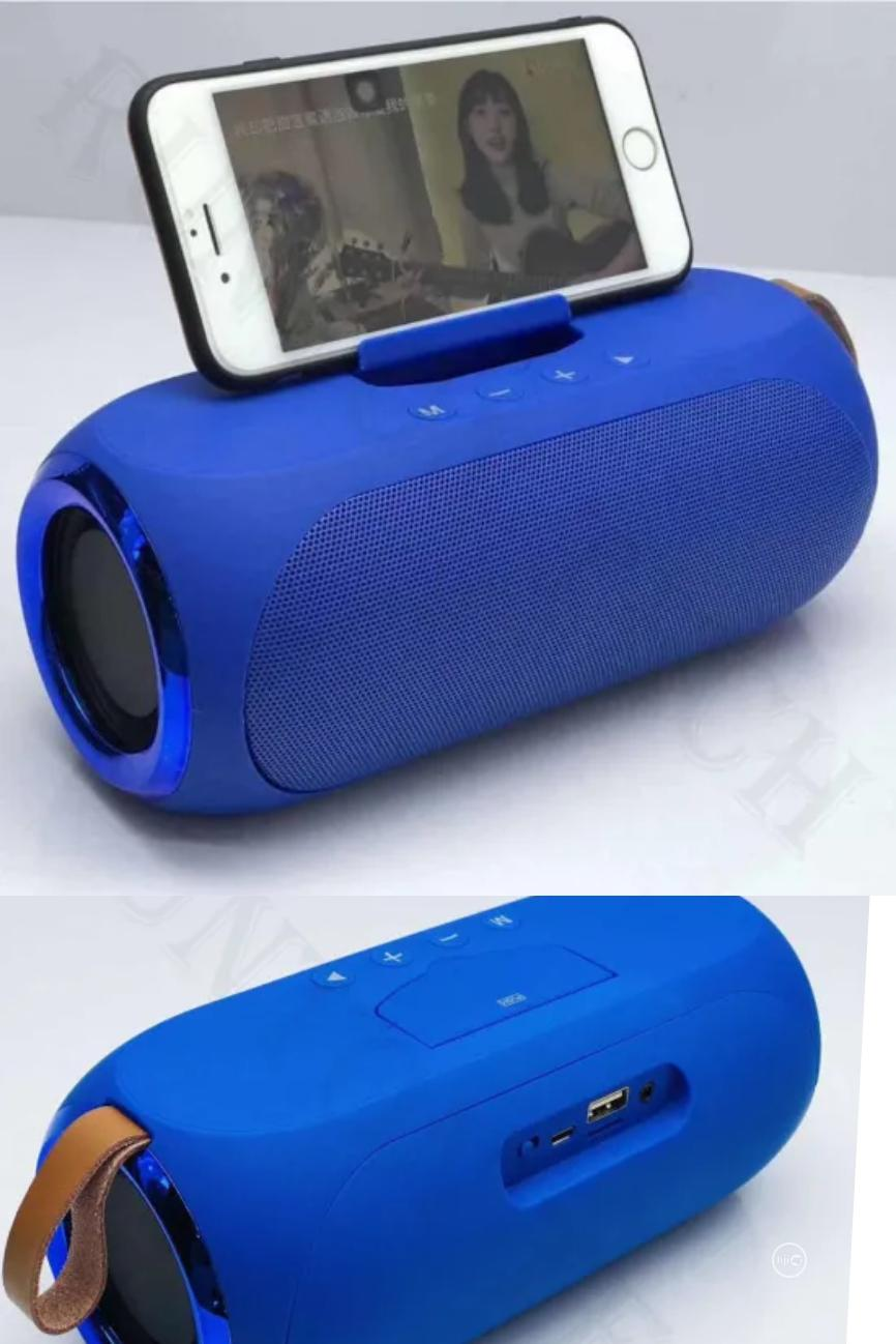 Lp V6 Wireless Bluetooth Super Bass Speaker Blue Phone Stand