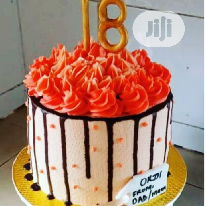 Tasty And Fluffy 2 In 1drip 18th Birthday Cake
