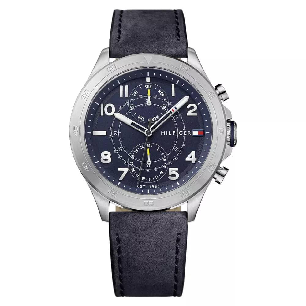High Quality Tommy Hilfiger Number Dial Leather Watch
