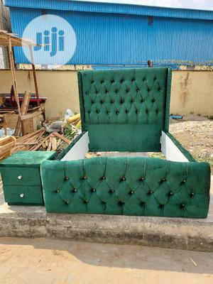 4nd Half By 6 Upholstery Bedframe,With Side Drawer | Furniture for sale in Lagos State, Ojo
