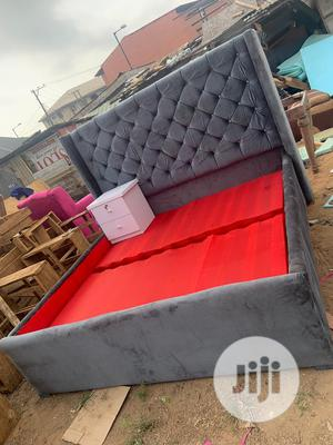 6by6 Upholstery Bedframe With One Side Drawer | Furniture for sale in Lagos State, Ojo