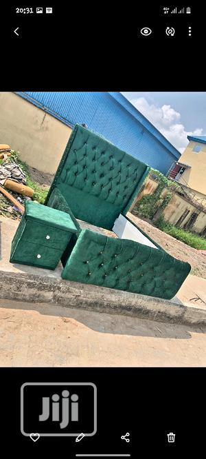 4nd Half Upholstery Bedframe With Uniform Side Drawer | Furniture for sale in Lagos State, Ojo