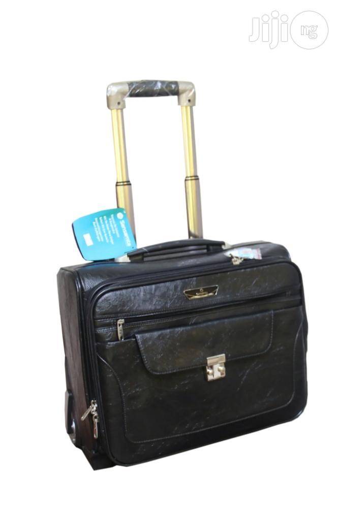 Sensamite Leather Pilotcase Luggage