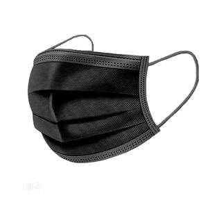Black Color Face Mask Disposable 1 Carton 50 Packs | Medical Supplies & Equipment for sale in Lagos State, Ikeja