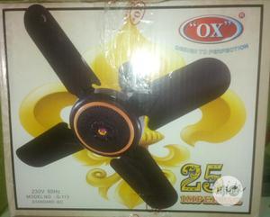 "Ox 25"" Short Blade Imperial Ox Ceiling Fan - Brown | Home Appliances for sale in Ogun State, Ado-Odo/Ota"