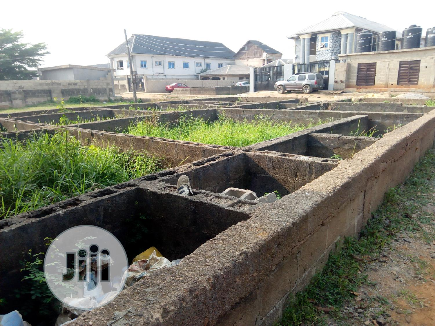 Half Plot Of Land With Foundation On It | Land & Plots For Sale for sale in Mile 12, Kosofe, Nigeria