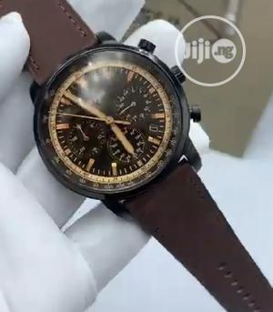 High Quality Fossil Black Dial Leather Watch   Watches for sale in Lagos State, Magodo