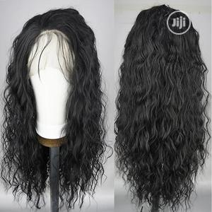 Black 100% Human Hair Wavy Lace Frontal Wig | Hair Beauty for sale in Lagos State, Ikeja