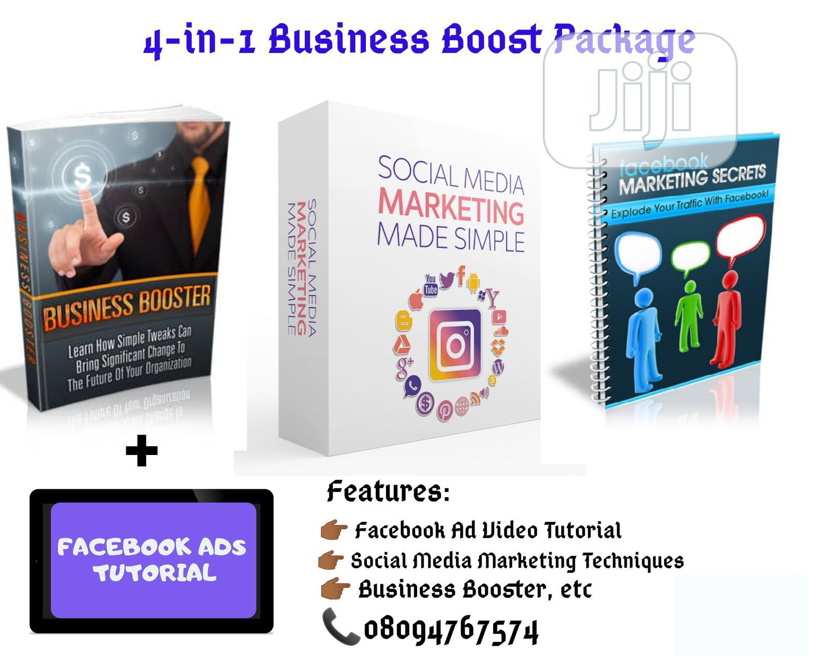 4-In-1 Facebook Marketing Pack (Ebooks Video)