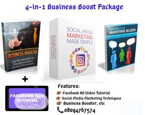 4-In-1 Facebook Marketing Pack (Ebooks Video)   Books & Games for sale in Lagos State, Surulere