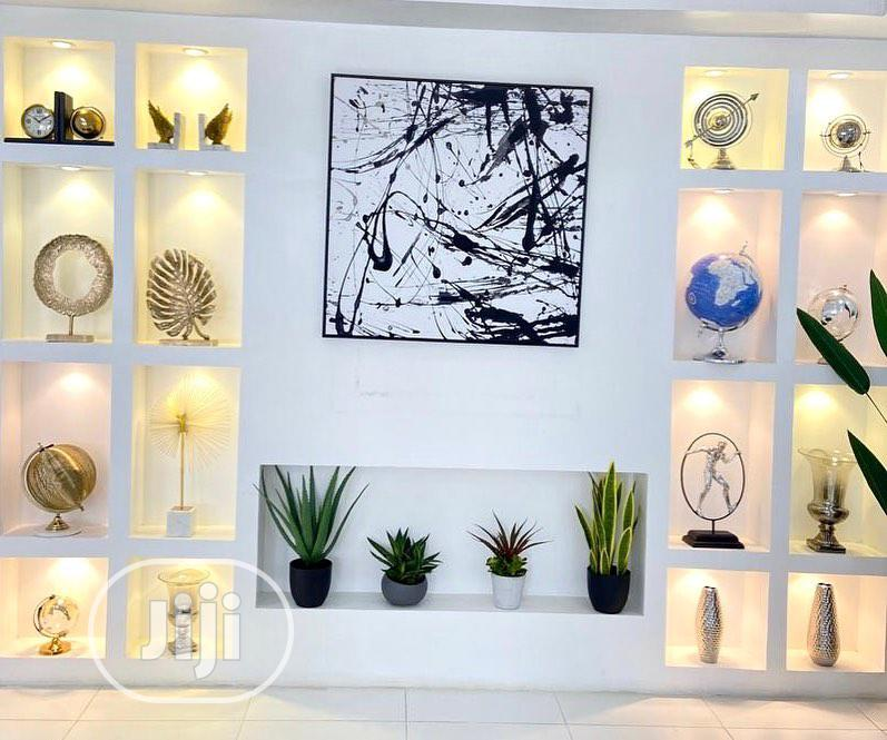 Tv Wall Design An Pop Wall Divider Interior Design | Building & Trades Services for sale in Lekki, Lagos State, Nigeria