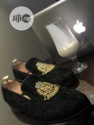 Black Velvet Monogramed Shoe   Shoes for sale in Lagos State, Mushin