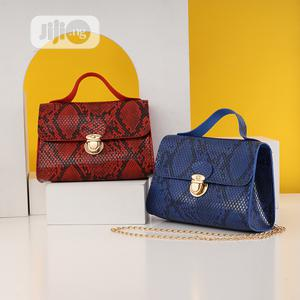 Blue Colour Print Skin Ladies Handbag | Bags for sale in Lagos State, Surulere