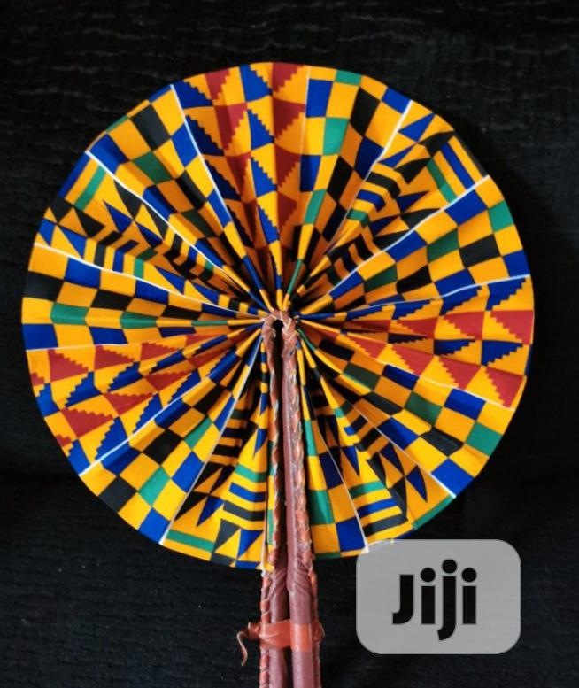 Ankara Handfan | Clothing Accessories for sale in Ajah, Lagos State, Nigeria