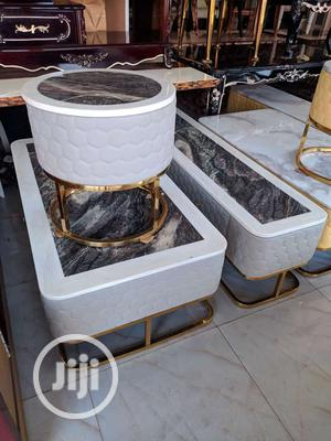 Set Of Marble Center Table With 2 Side Tables And A TV Shelf   Furniture for sale in Lagos State, Victoria Island