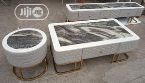Set of Marble Center Table With 2 Side Tables and a TV Shelf   Furniture for sale in Lagos State, Ojo