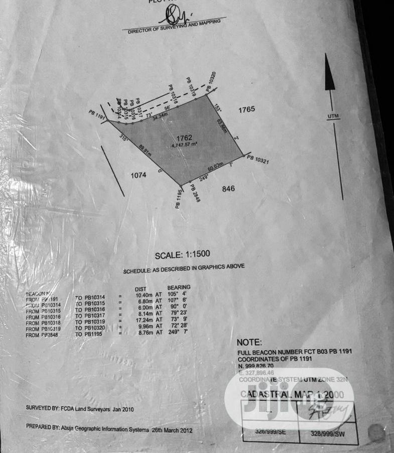 Archive: 4,747sqm of Commercial Land at Wuye Abuja