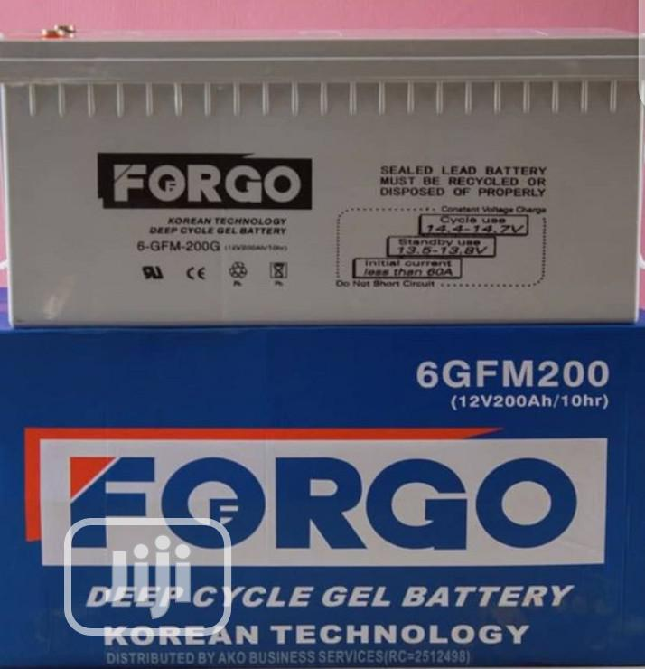 Forgo Solar Battery 12V 200AH | Electrical Equipment for sale in Wuse, Abuja (FCT) State, Nigeria